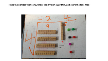 Division with Blocks/ MAB /Hundreds Tens Ones