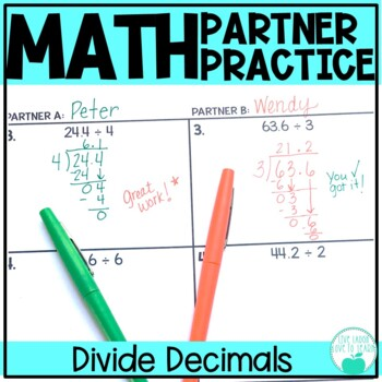 Division with Decimals - Differentiated Partner Practice