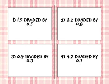 Division with Decimals: Task Cards