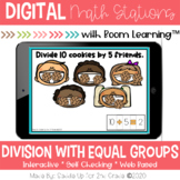 Division with Equal Groups | Digital Task Cards | Boom Cards™