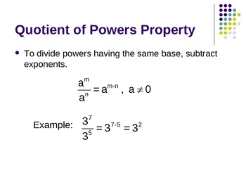 Division with Exponents and Negative and Zero Exponents