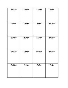 Division with Fraction Answers- Matching/BINGO activity