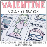 Division with Fractions Color By Number 5.NF.7a/b/c
