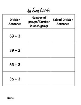 Division with Group Identification