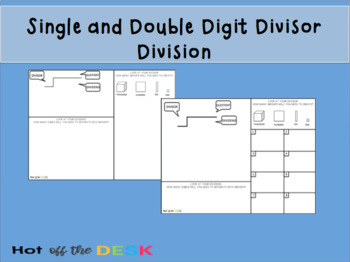 Division with Manipulatives Place Mat