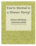 Division with Money Dinner Party Activity