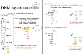 Division with Multi Digit Numbers / Rules / Module / Math / Game