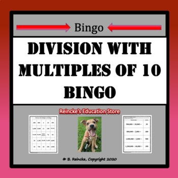 Division with Multiples of 10 Bingo (30 pre-made cards!)