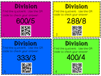 Division with QR codes