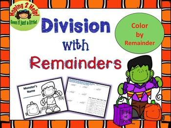 Long Division with Remainders:  Halloween Math