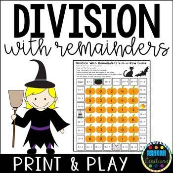 Division with Remainders 4-in-a-Row Game