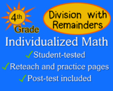 Division with Remainders, 4th grade - Individualized Math - worksheets