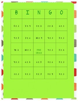Division with Remainders BINGO!