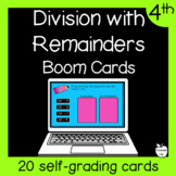Division with Remainders Boom Cards ~ 4th Grade Distance Learning