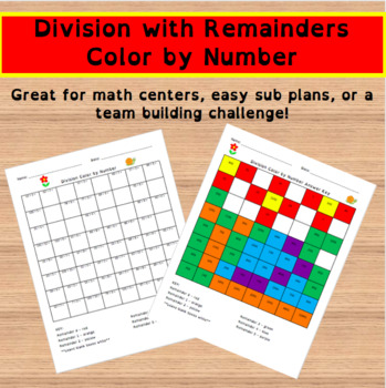 Division with Remainders Color by Number