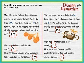 Division with Remainders - GOOGLE INTERACTIVE CLASSROOM!