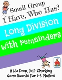Division with Remainders 'I Have, Who Has?' Small Group Game