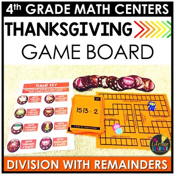 Division with Remainders Thanksgiving Game