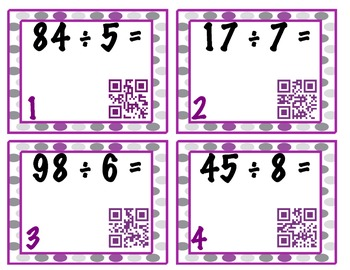 Division with Remainders Task Cards