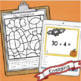 Division with Remainders Task Cards- fall theme