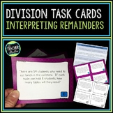 Division with Interpreting Remainders Word Problems Task C