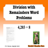 Division with Remainders Word Problems