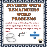 Division with Remainders Word Problems 3rd 4th Grade