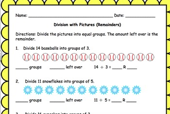 Division with Remainders and Pictures