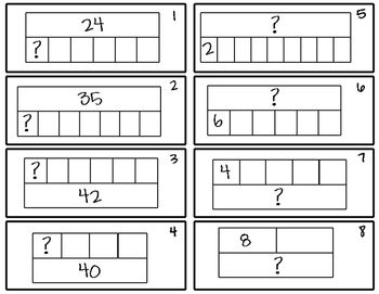 Division with Strip Diagrams Write the Room!