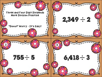 Division with Three and Four Digit Dividends