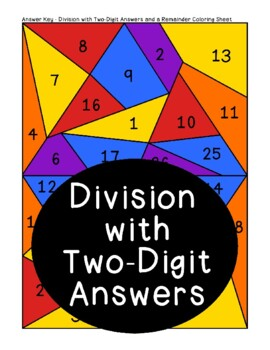Division with Two-Digit Answers and a Remainder Problem Solving Activity