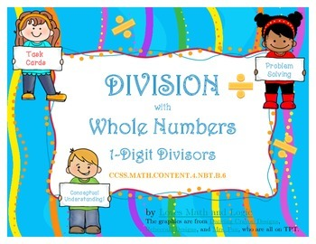 Division with Whole Numbers: 1-Digit Divisors for 4th Grade_4.NBT.B.6; 4.OA.A.3