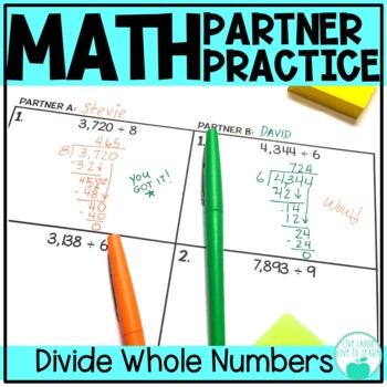 Division with Whole Numbers - Differentiated Partner Practice