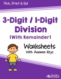 Divide 3 Digit By 1 Digit Numbers, Simple Division With Remainders Worksheets