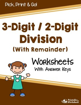 Dividing 3-Digit by 2-Digit Numbers Worksheets - Dividing by 2 Digit ...