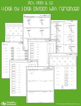 Dividing 4-Digit by 1-Digit Divisor - Divide by 1 Digit With Remainder