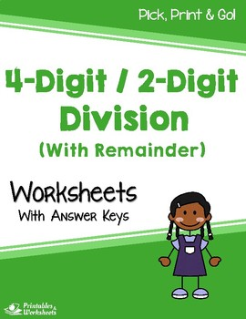 Dividing 4-Digit by 2-Digit Numbers - Divide by 2 Digits With Remainder