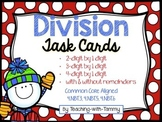 Division with and without remainders {task cards}