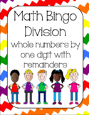 Division with one digit divisor (with remainders) Bingo