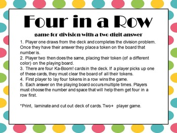 Division with two digit answer-Game