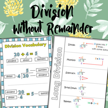 Long Division without Remainder Worksheets