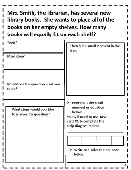 Division word problems-comprehension packet {NUMBERLESS WORD PROBLEMS}