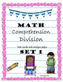 Division word problems-comprehension packet {NUMBERLESS WO