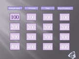 Division/Multiplication/Time Jeopardy PowerPoint Game