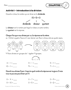 French Math Songs (Division) - Digital MP3 Album Download w Lyrics & Activities