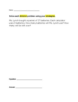 Divisions with remainders worksheets