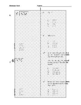 Divison Computation and Estimation Assessment