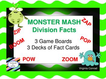 Divison Facts---Monster Mash Game