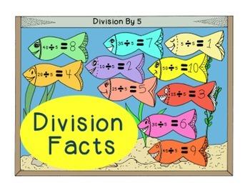Divison Facts Practice Math Activity Bulletin Board PDF Pr
