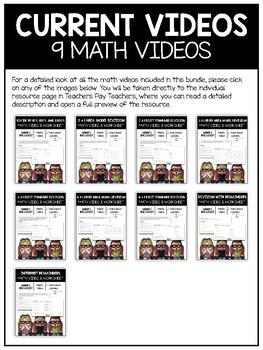 Divison Math Video and Worksheet Bundle